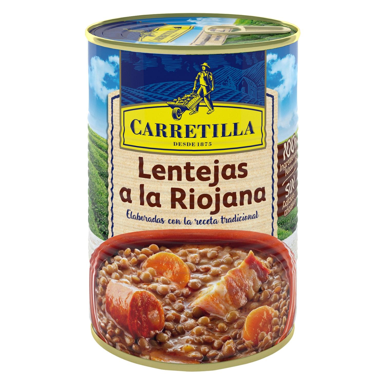 Lentejas a la Riojana Carretilla 430 g.