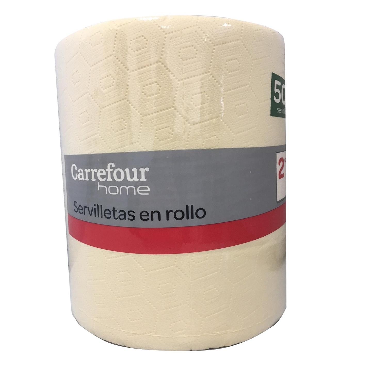 Servilletas cream 2 capas de celulosa 19,5x19,5 cm. Carrefour Home 500 ud.
