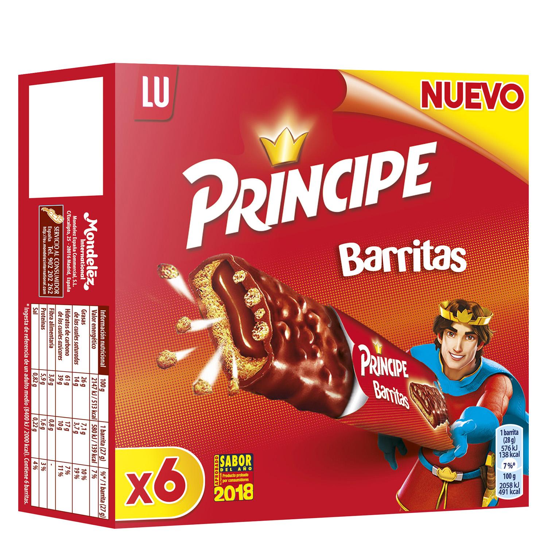 Barritas rellenas de chocolate