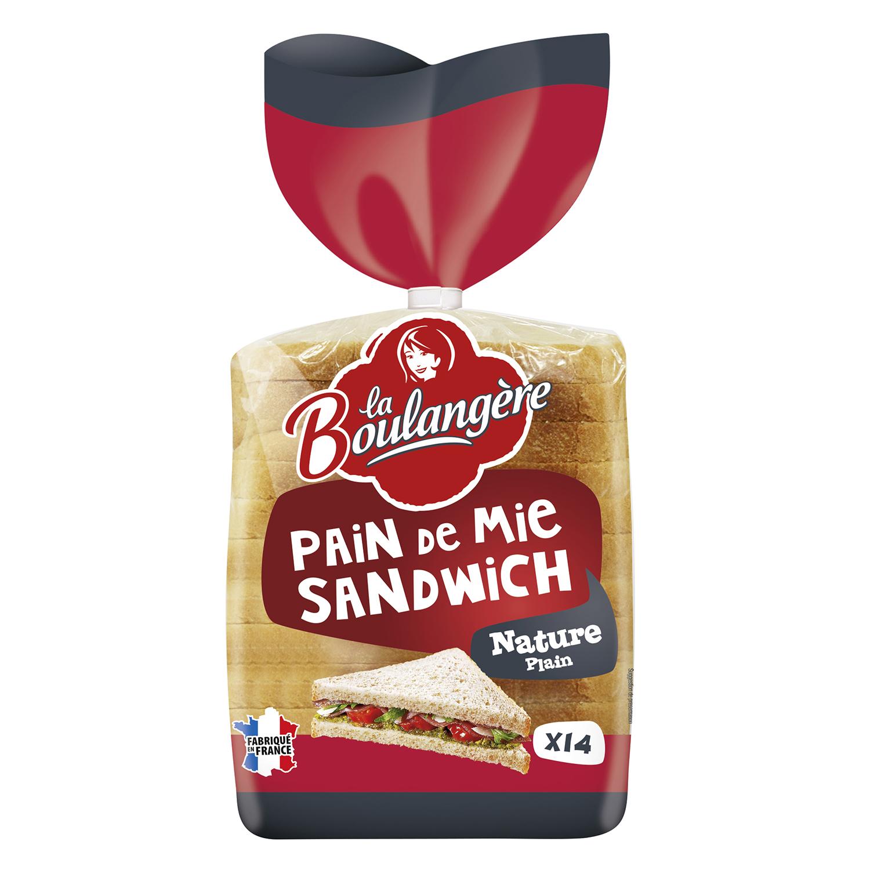 Pan de molde blanco sandwich