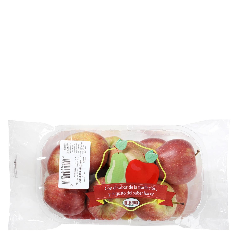 Manzana roja Frutas Delissium bandeja 1,5 Kg aprox