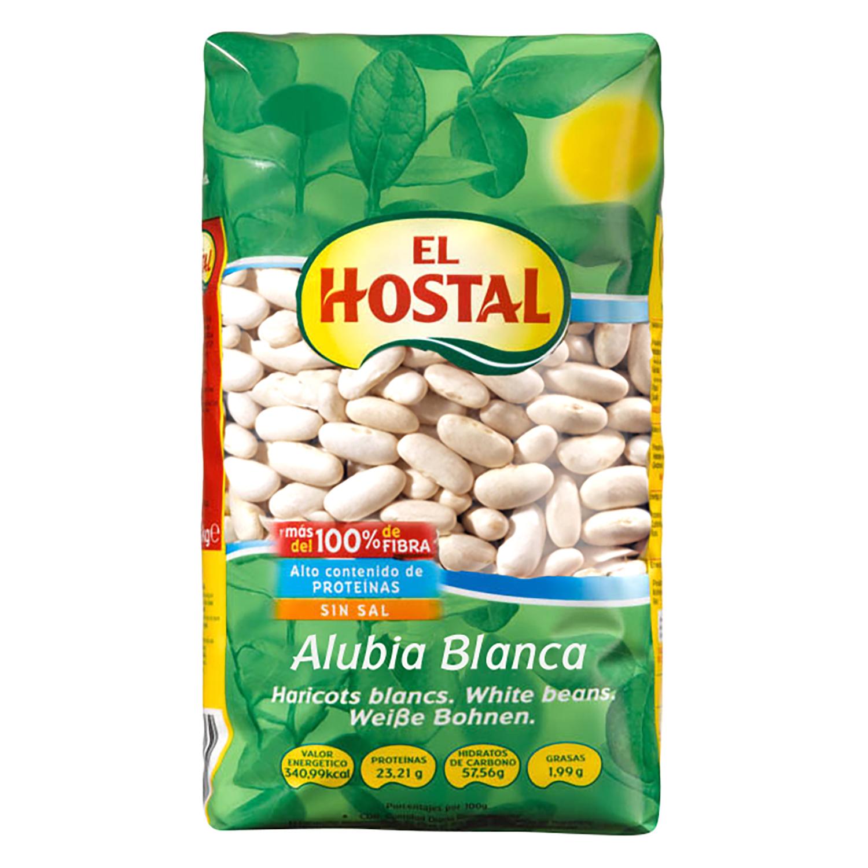 Alubia blanca sin sal El Hostal 1 kg.