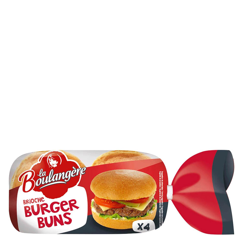 Brioche burguer buns La Boulangere 4 ud.