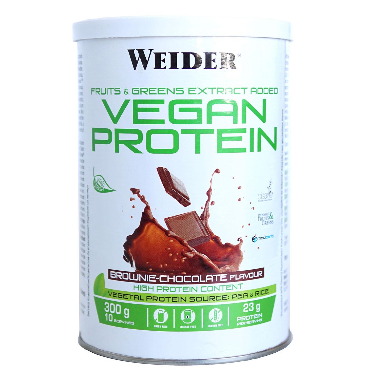 Proteína vegana de chocolate Weider 300 g.