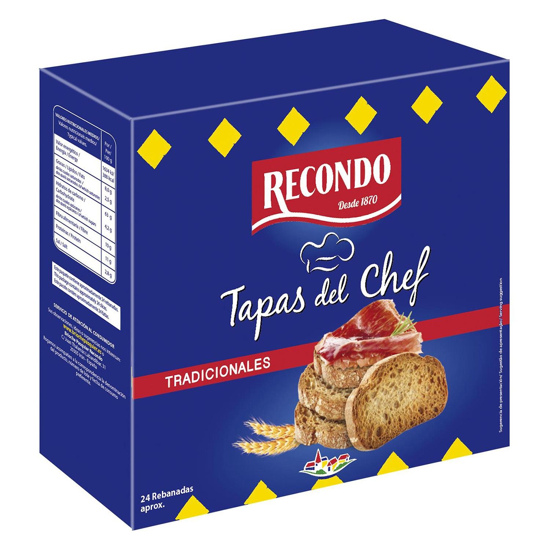 Tapas del chef tradicionales Recondo 110 g.
