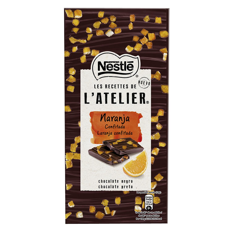 Chocolate negro con naranja confitada Nestlé 115 g.
