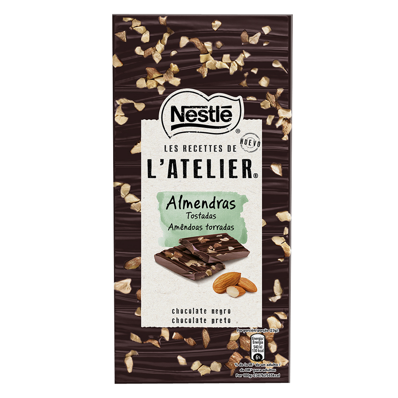 Chocolate negro con almendras tostadas Les Recettes de l' Atelier