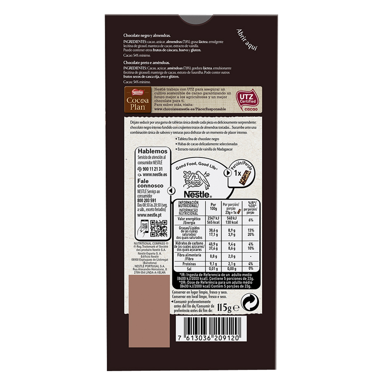 Chocolate negro con almendras tostadas Les Recettes de l' Atelier -
