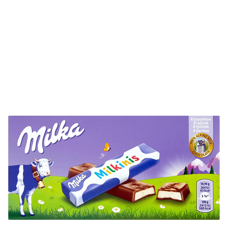 Chocolatinas con leche Milkinis Milka 87,5 g.