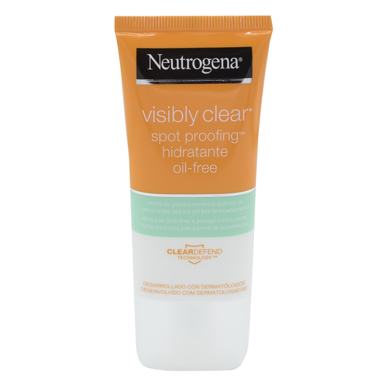 Crema visibly clear spot proofing hidratante oil-free elimina los granos Clear Defend Technology