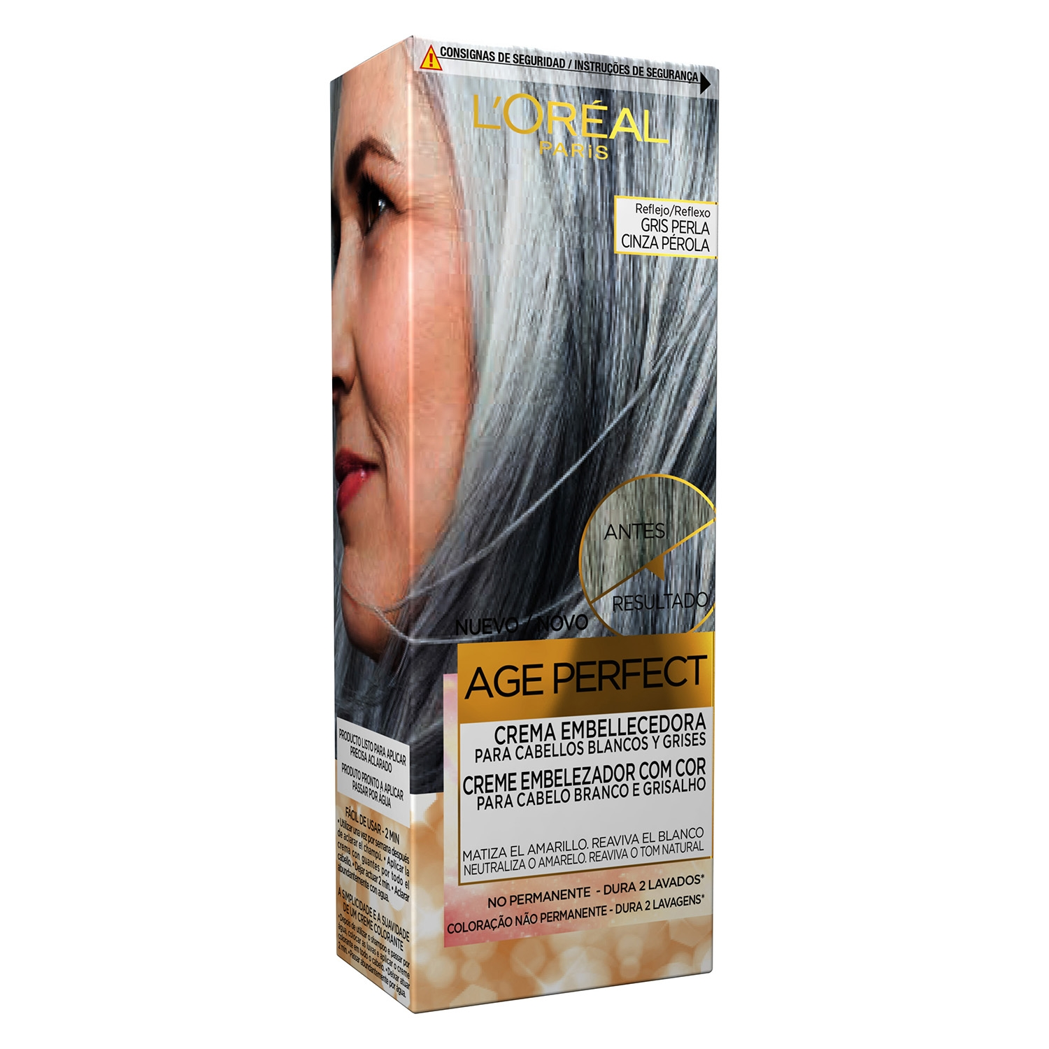 Crema embellecedora no permanente Age Perfect Gris Perla