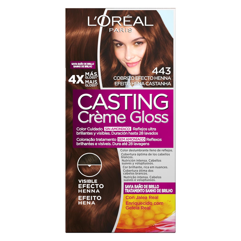 Tinte Créme Gloss nº 443 Cobrizo efecto Henna L'Oréal Casting 1 ud.