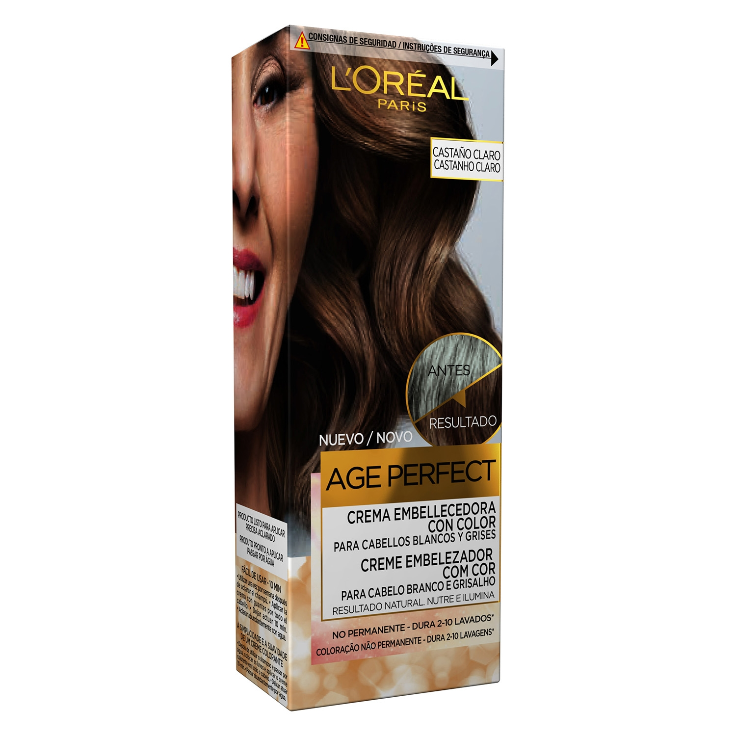 Crema embellecedora no permanente Age Perfect Castaño Claro L'Oréal 1 ud.