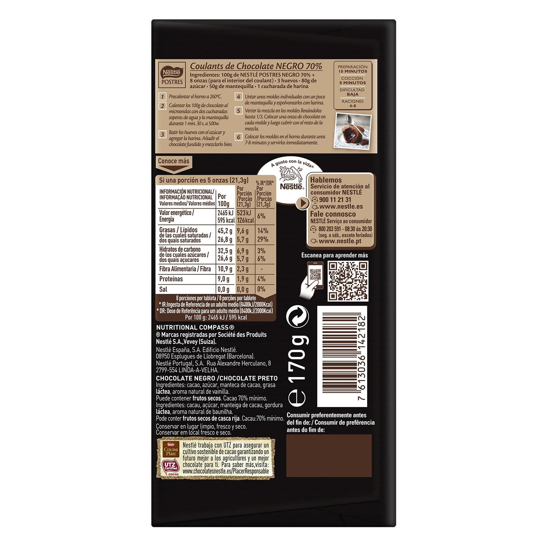 Chocolate negro 70% postres -