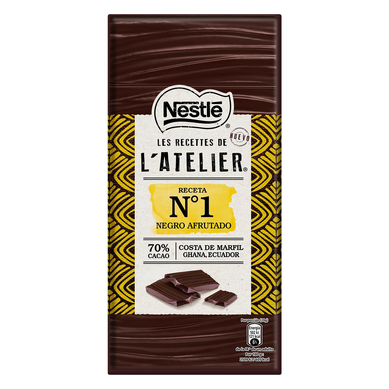 Chocolate negro afrutado 70% Nestlé 100 g.