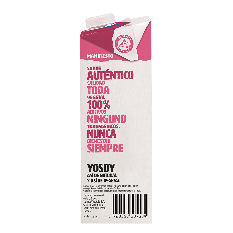 Bebida de arroz sin azúcares añadidos YoSoy sin lactosa brik1 l. - 3