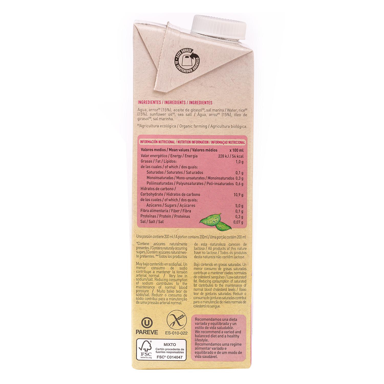 Bebida de arroz sin azúcares añadidos ecológica YoSoy brik 1 l. -