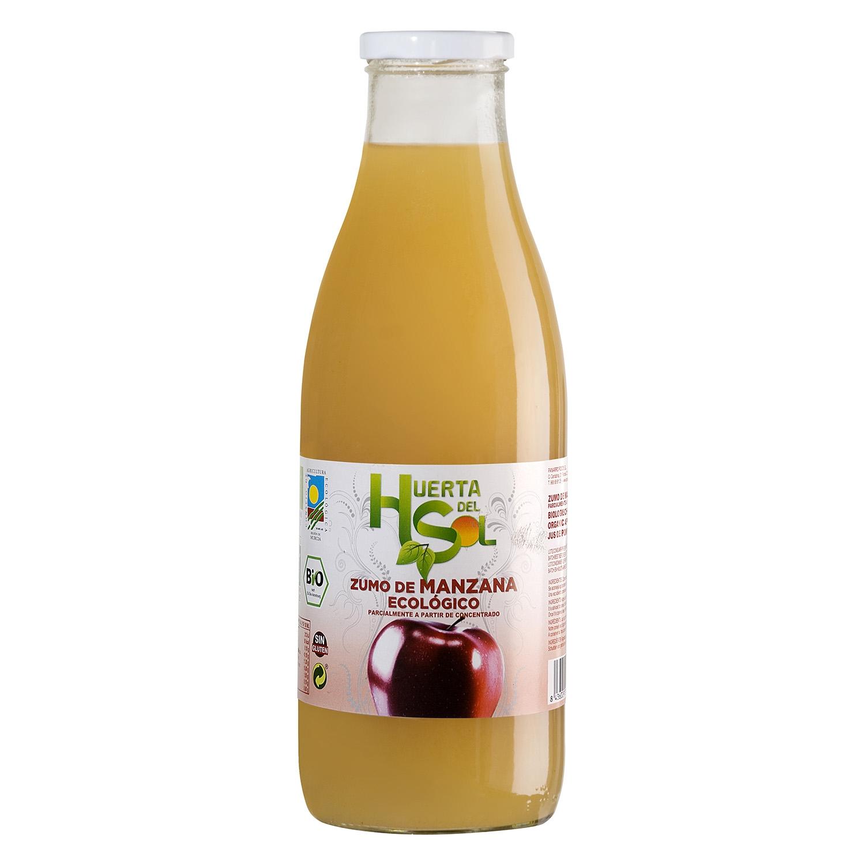 Zumo de manzana ecológico Huerta del Sol botella 1 l.