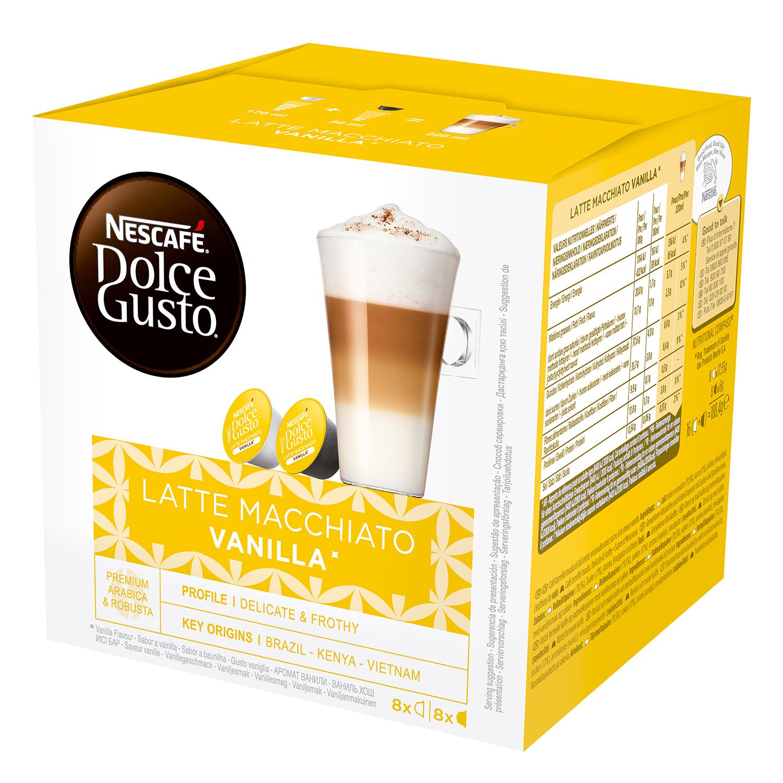 Café latte macchiato vainilla en cápsulas