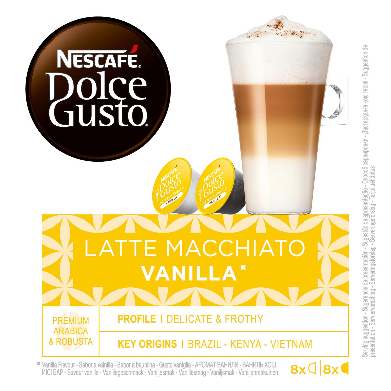 Café latte macchiato vainilla en cápsulas -