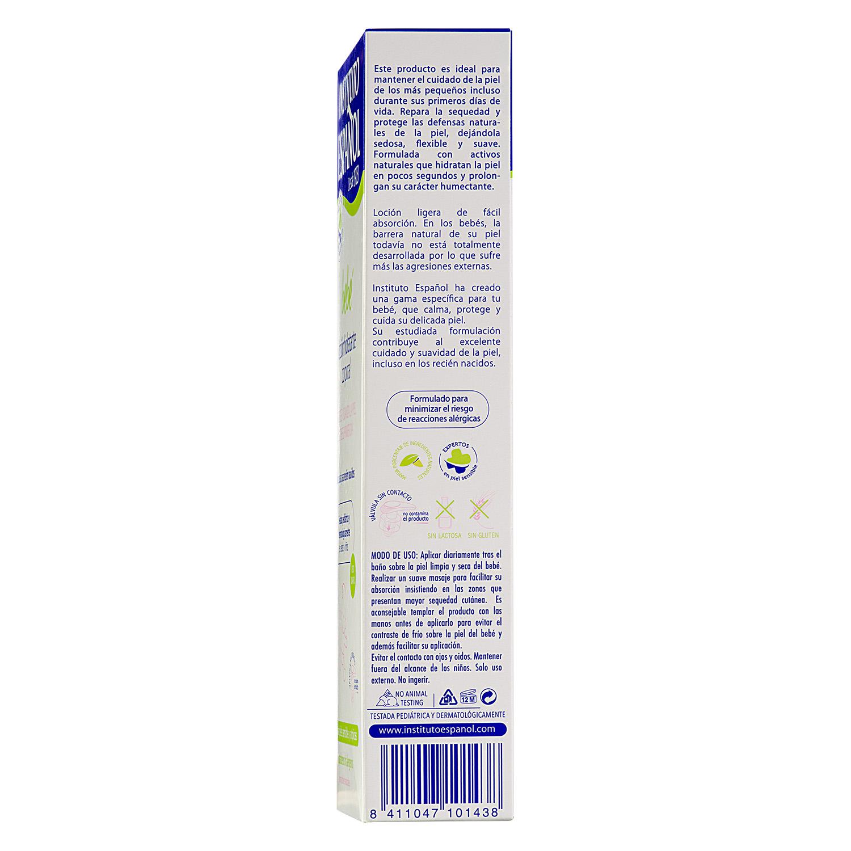 Loción hidratante corporal recién nacido pieles sensible y atópicas -