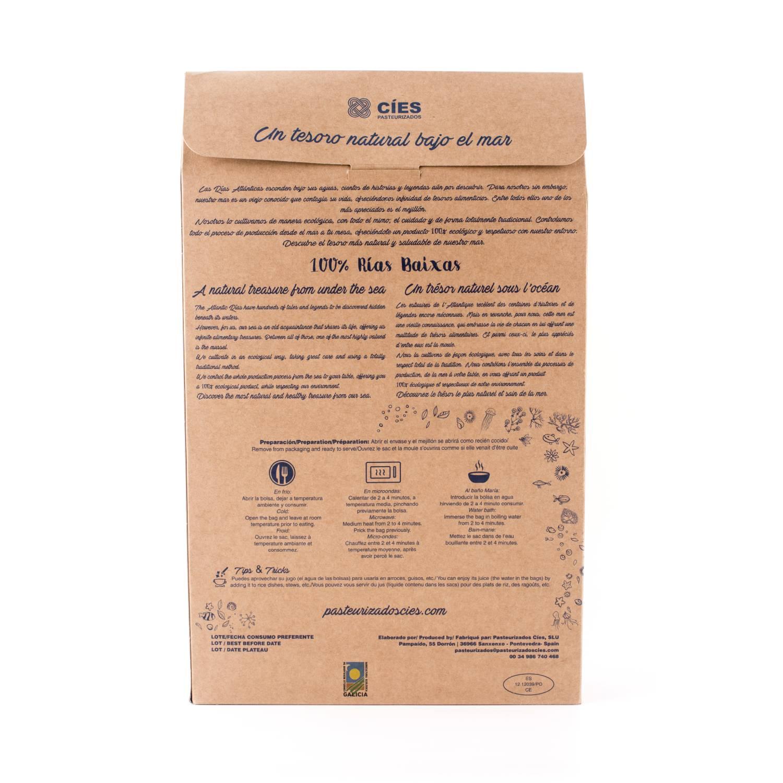 Mejillón gallego ecológico cocido en su jujo Cies 1 kg - 3
