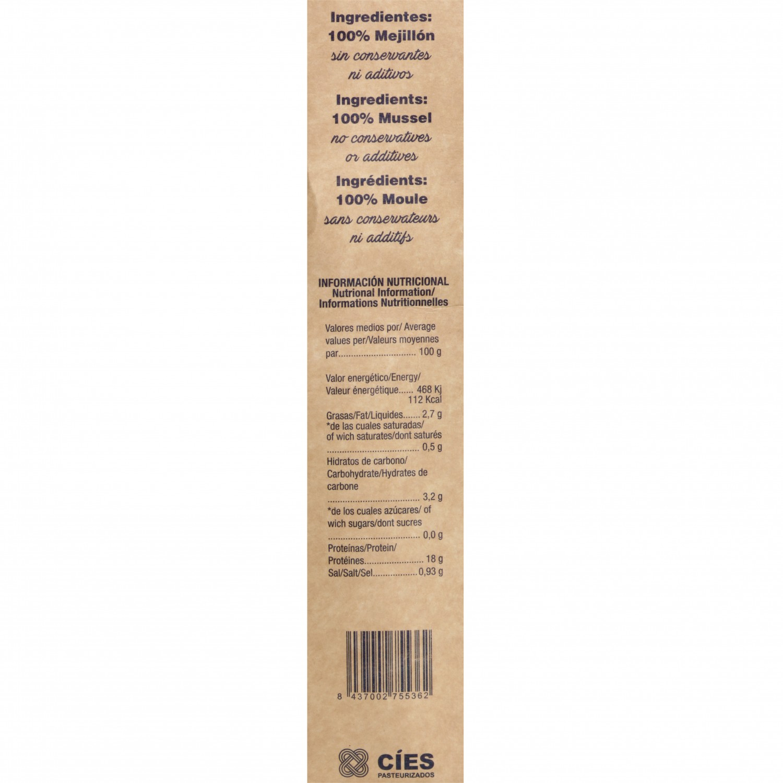 Mejillón gallego ecológico cocido en su jujo Cies 1 kg - 5