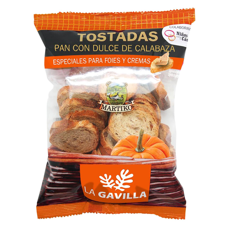 Tostadas de pan con dulce de calabaza La gavilla