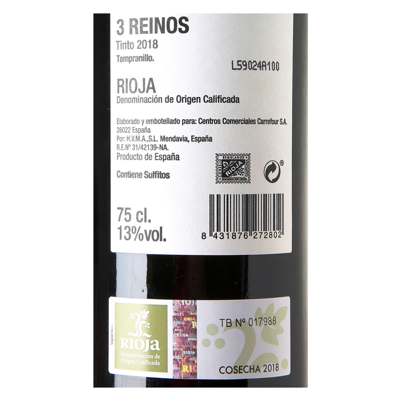 Vino D.O. Rioja tinto -