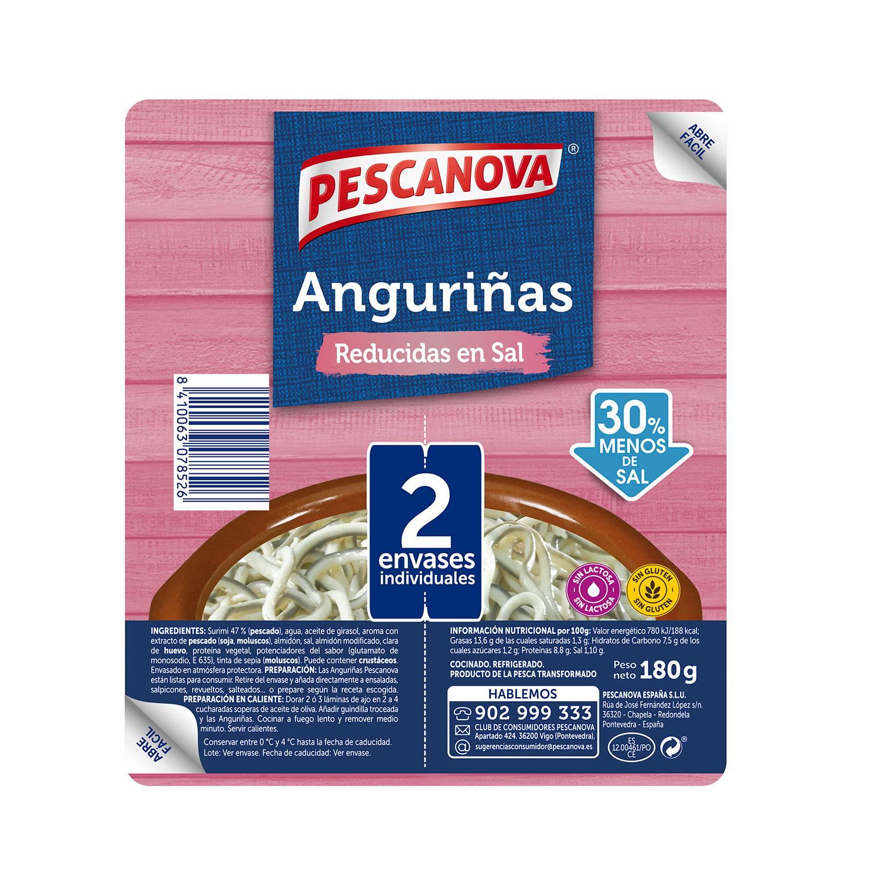 Anguriñas reducidas en sal Pescanova 180 g - 2