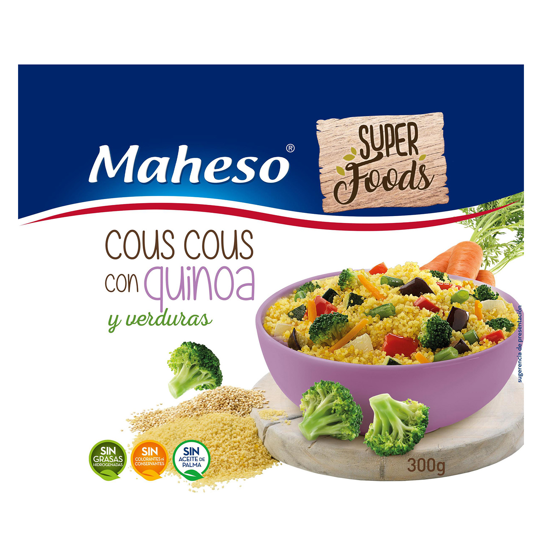 Cous Cous con quinoa y verduras Maheso 300 g.