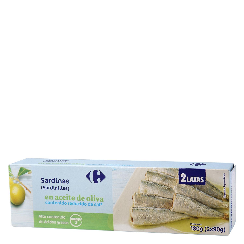 Sardinillas en aceite de oliva Omega 3 reducido en sal