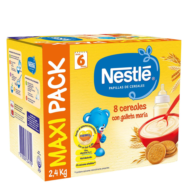 Papilla de 8 cereales con galleta maría en polvo Nestlé 2,4 kg.