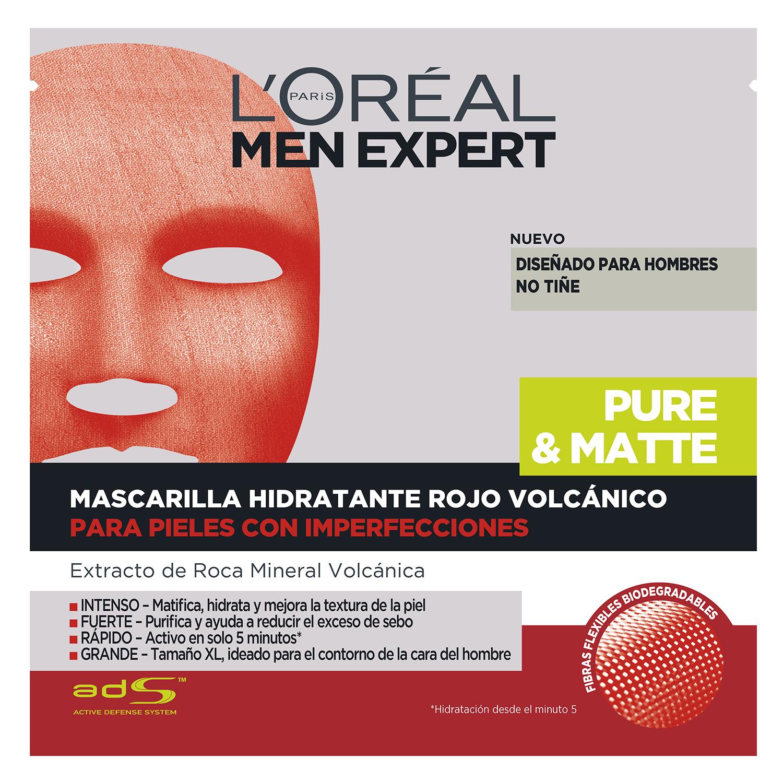 Mascarilla facial hidratante masculina Rojo volcánico