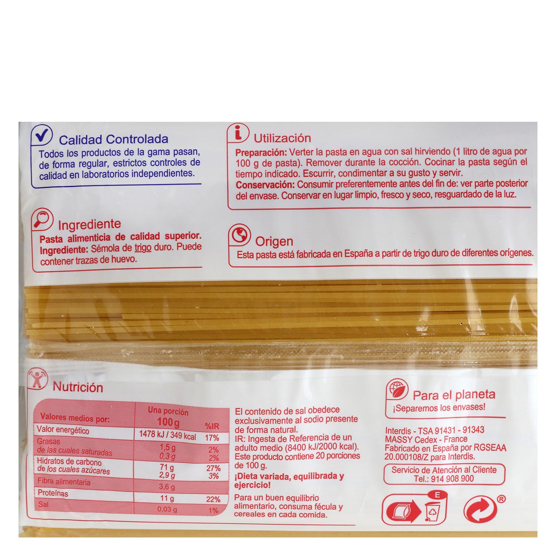 Espaguetis Producto blanco 2 kg. -