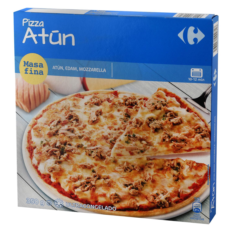 Pizza de atún Carrefour 350 g.