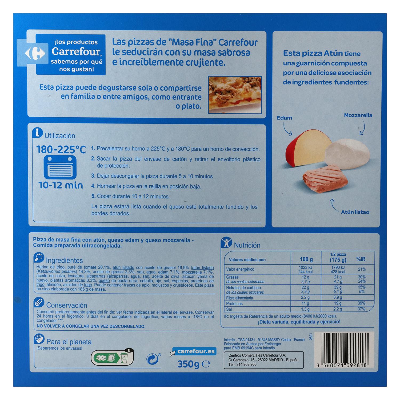 Pizza de atún Carrefour 350 g. -