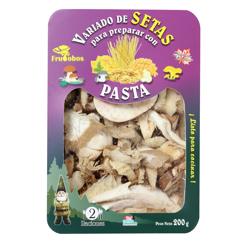 Combinado setas para pasta Frutobos bandeja 200 g - 2