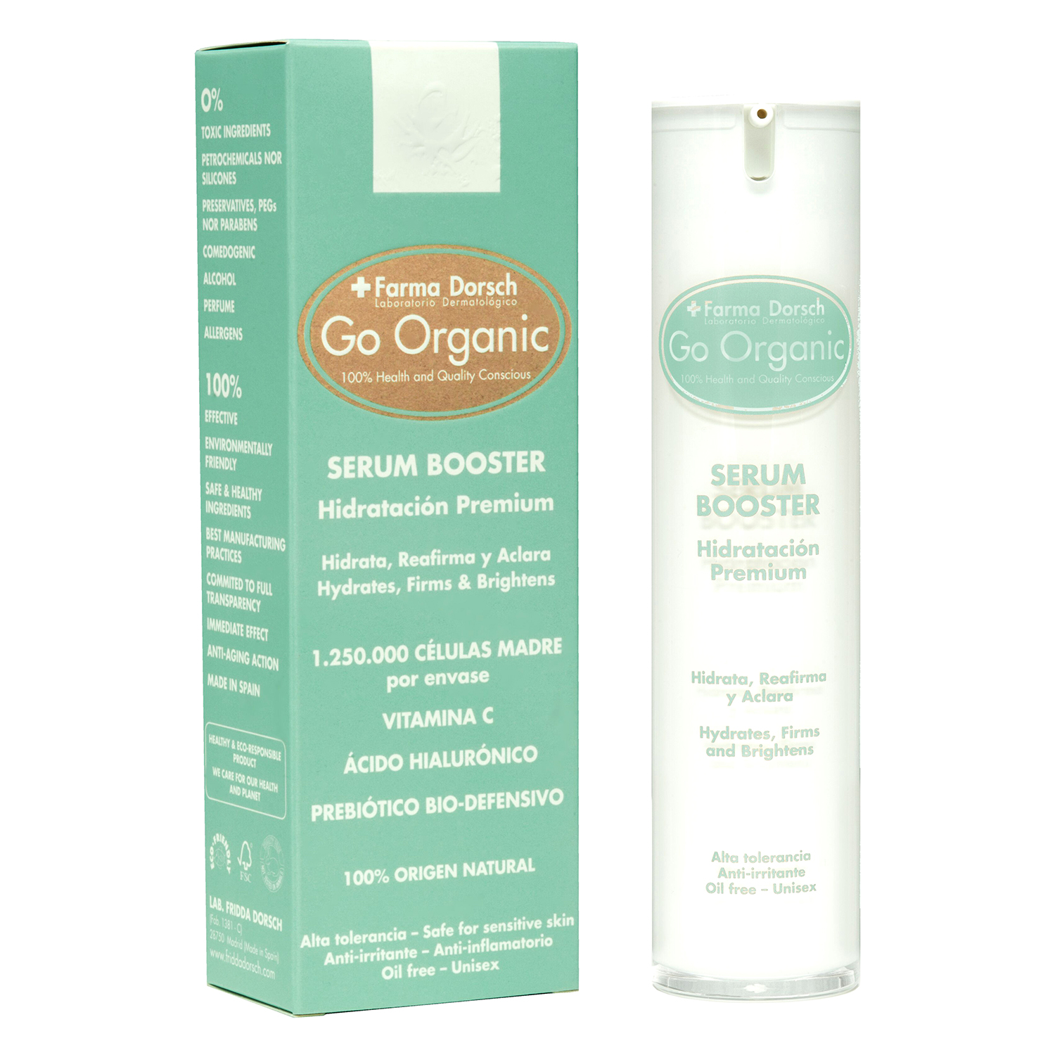 Serum booster Anti Aging Go Organic Farma Dorsch 50 ml.