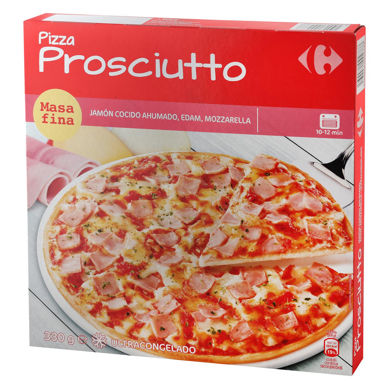 Pizza prosciutto masa fina