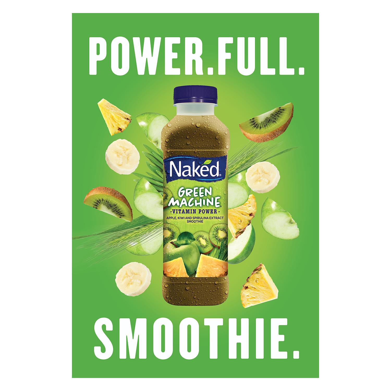 Smoothie de manzana, kiwi y piña Naked botella 45 cl.. -