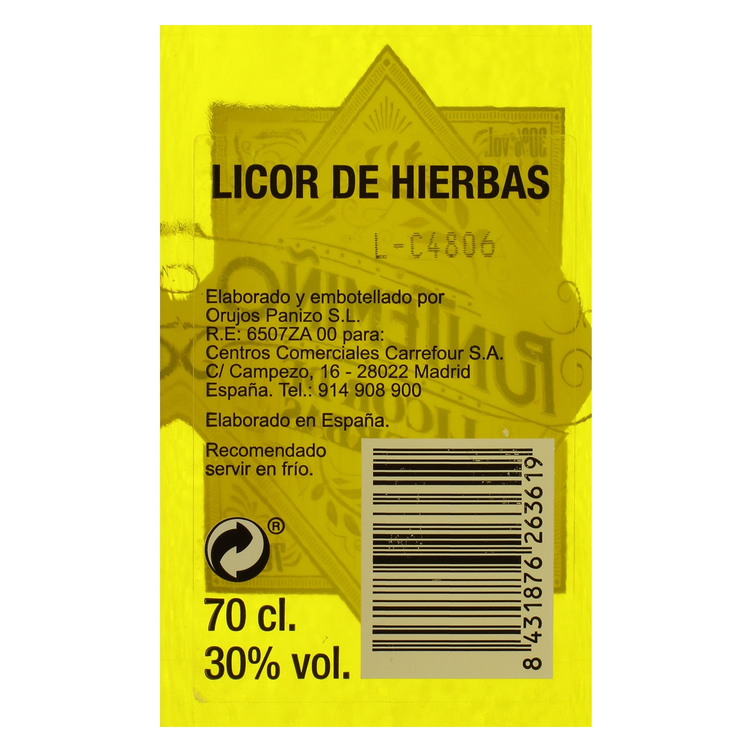 Licor de hierbas Puntemiño 70 cl. -