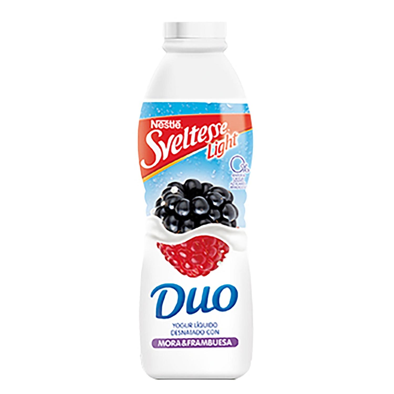 Yogur líquido de frambuesa y mora Nestlé Sveltesse 700 g.