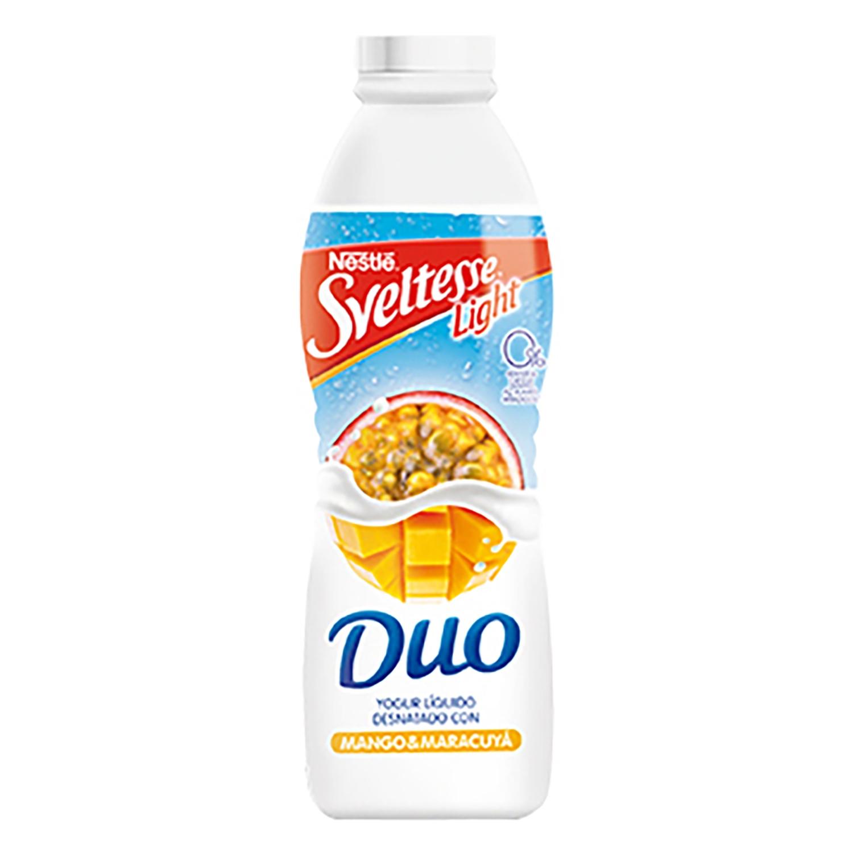 Yogur líquido de mango y maracuyá Nestlé Sveltesse 700 g.