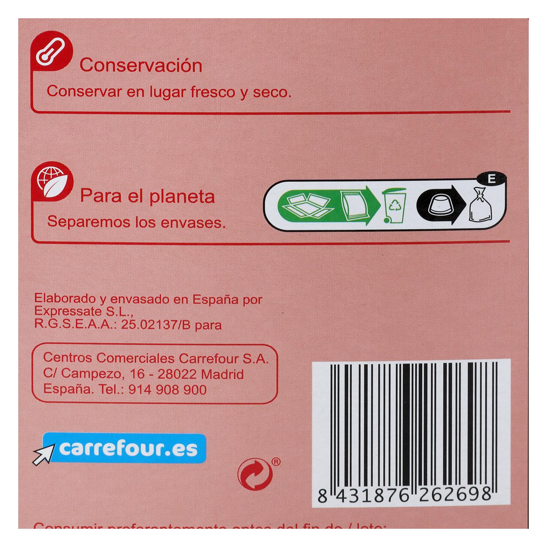 Café descafeinado en cápsulas Carrefour compatible con Dolce Gusto 16 unidades de 7 g. - 2