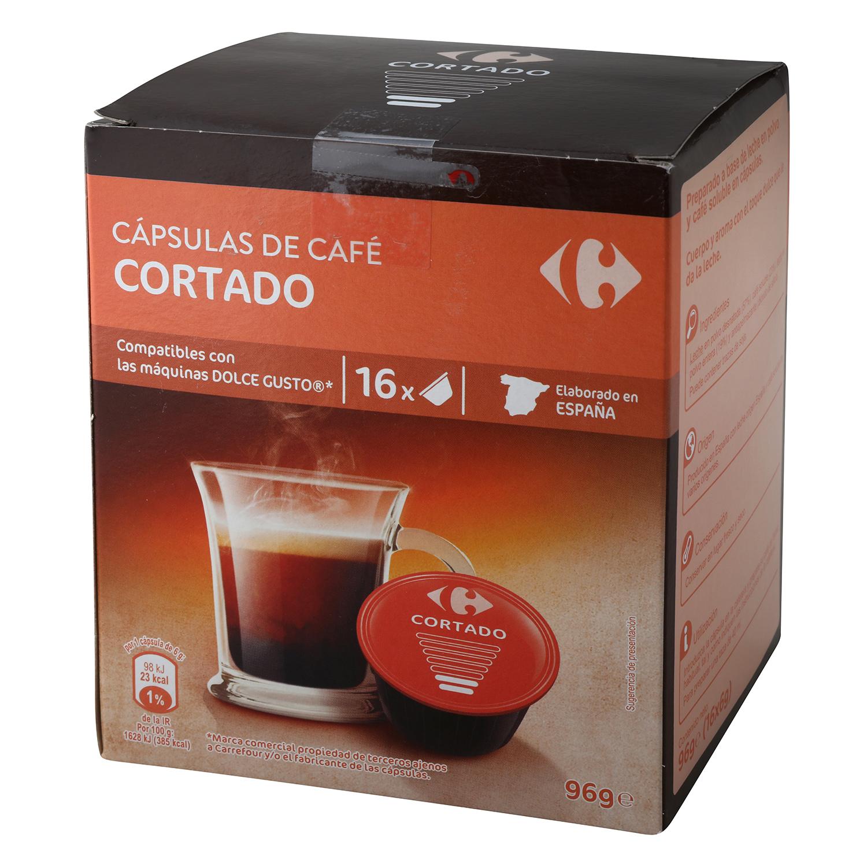 Café cortado en cápsulas compatible con Dolce Gusto