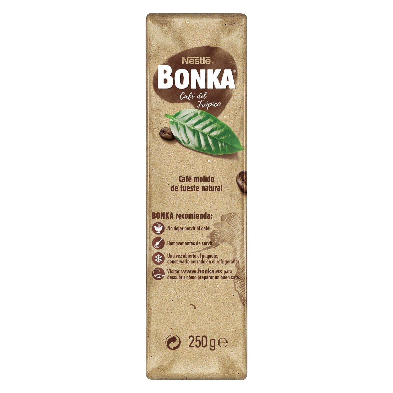Café molido natural para cafetera italiana Nestlé Bonka 250 g. - 2