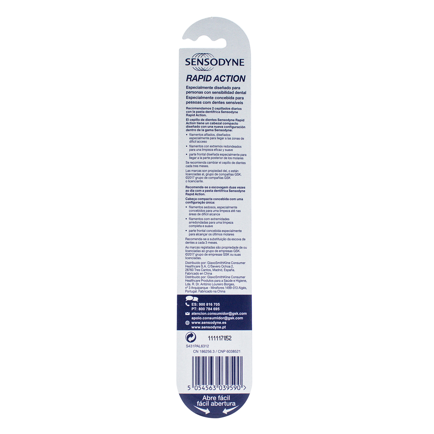 Cepillo dental para dientes sensibles Rapid Action Suave Sensodyne 1 ud. -