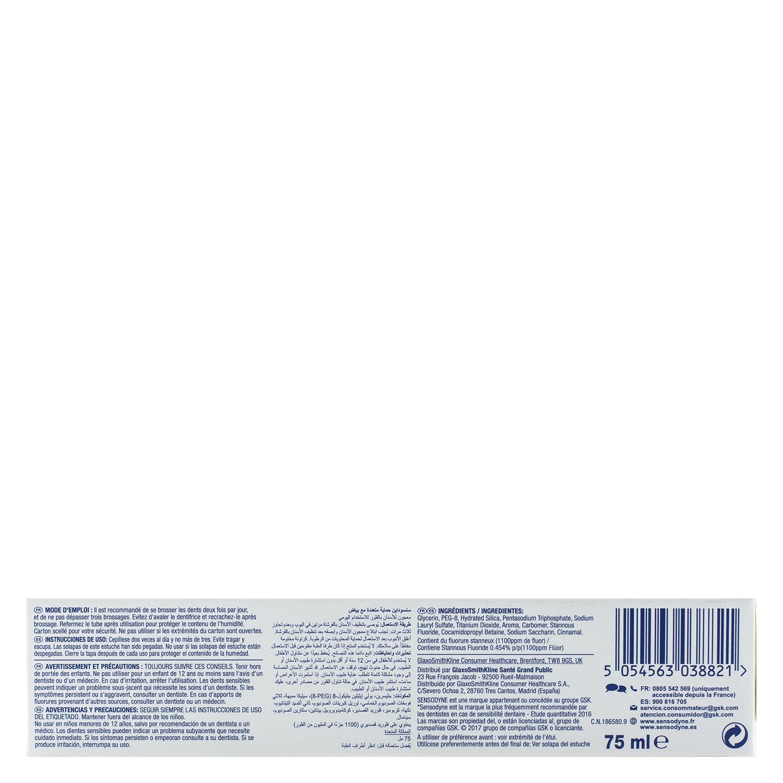 Dentífrico para dientes sensibles Acción Completa Blanqueante Sensodyne 75 ml. - 2