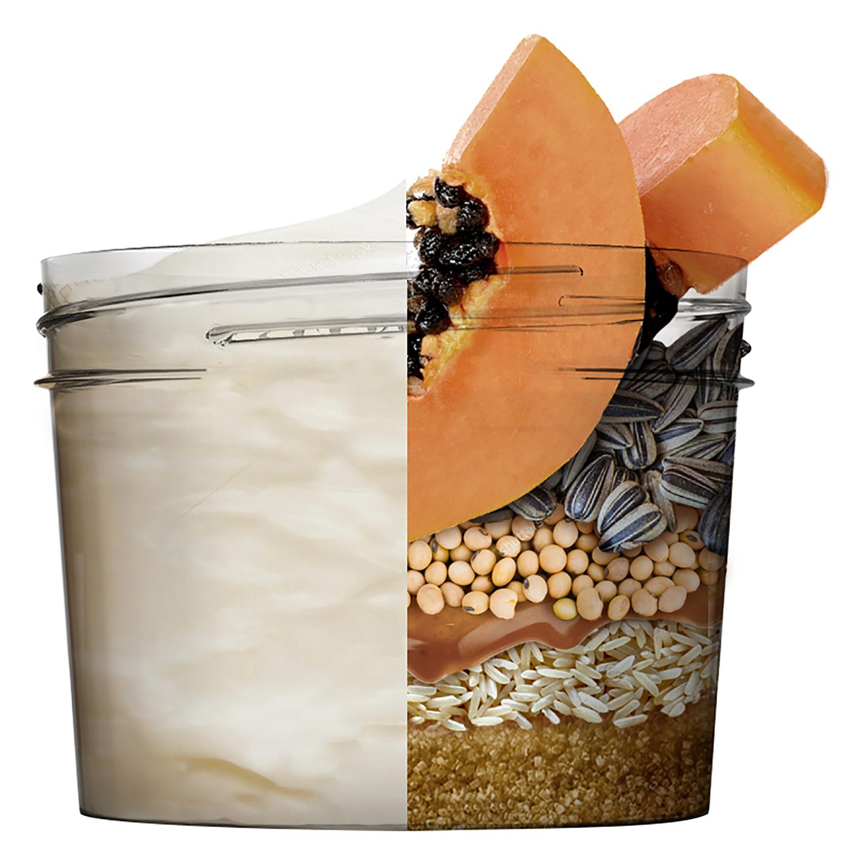 Mascarilla 3 en 1 Hair Food Papaya Reparadora Para cabello dañado Garnier Fructis 390 ml. -